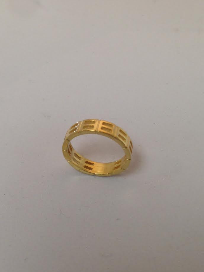'Equality' Wedding Band Ladies Yellow Gold