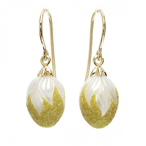 Drop Pearl & Lab Grown Diamond Earrings