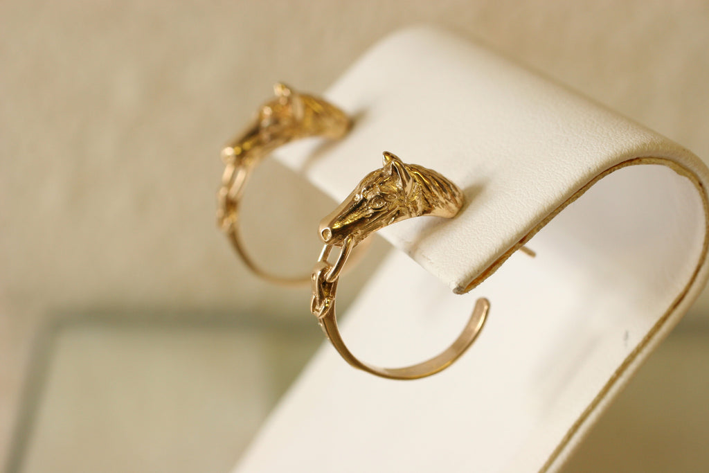 Horse Head Hoops Gold