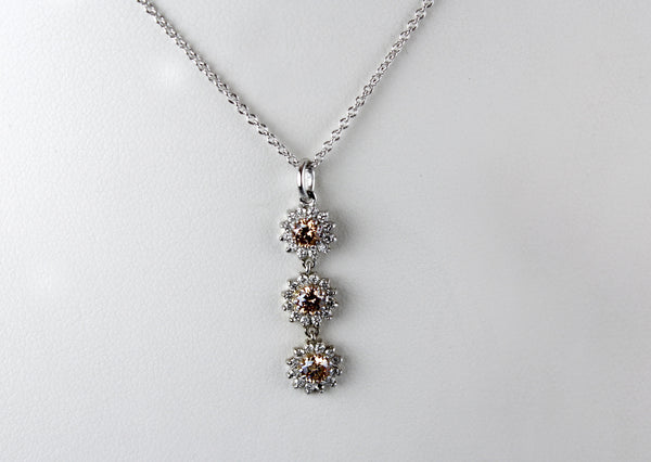 Champagne Diamond Dangle Pendant