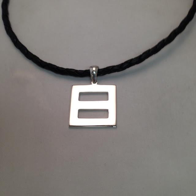 'Equality' Pendant Large on Leather