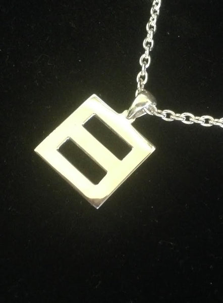 'Equality' Pendant Medium Sterling Silver