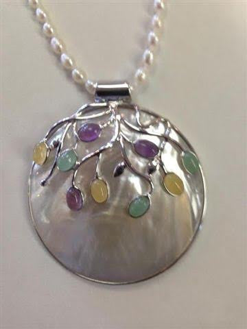 Domed Sterling Silver Pendant