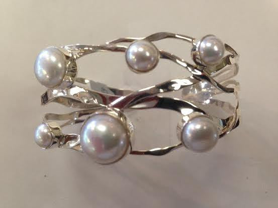 Sterling Silver with Pearls Bracelet