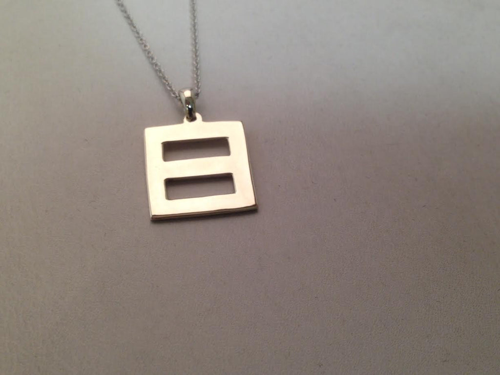'Equality' Pendant 14-Karat White Gold