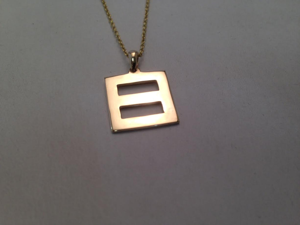 'Equality' Pendant 14-Karat Yellow Gold