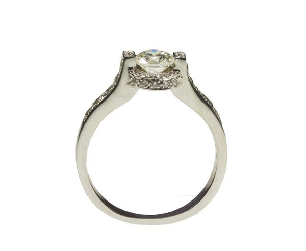 Pave Filled Diamond Ring