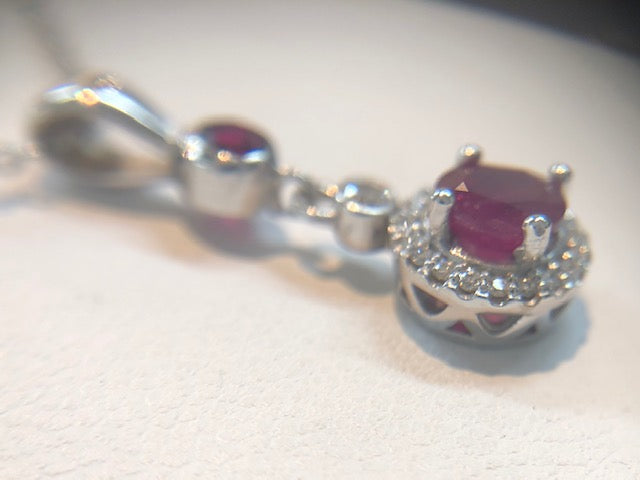 Ruby Dangle Necklace