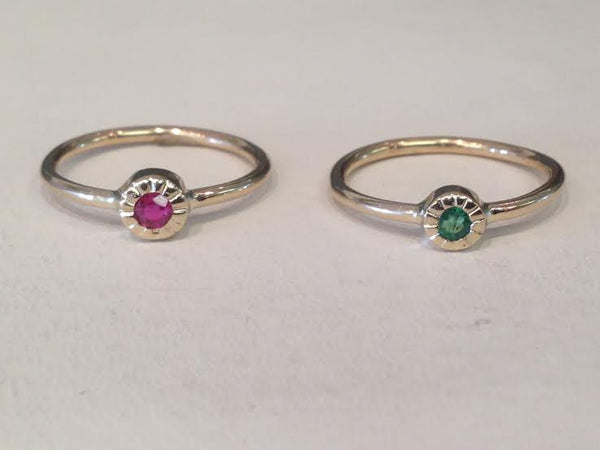 Ruby & Emerald Rings