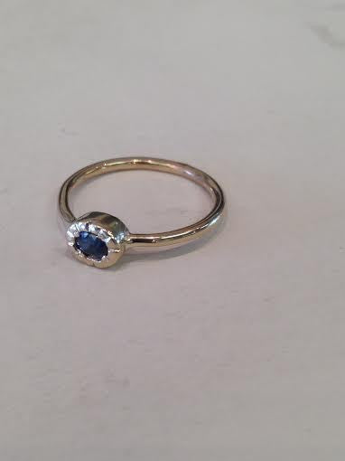 Small Oval Sapphire Ring