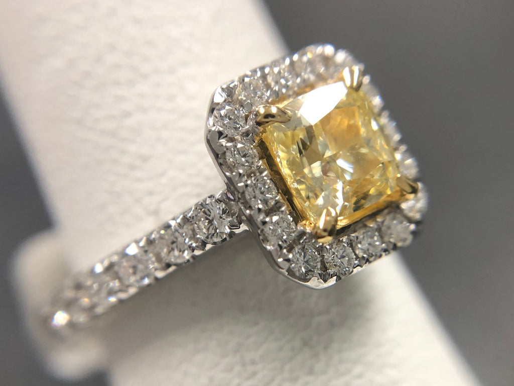 One Carat Yellow Diamond Ring