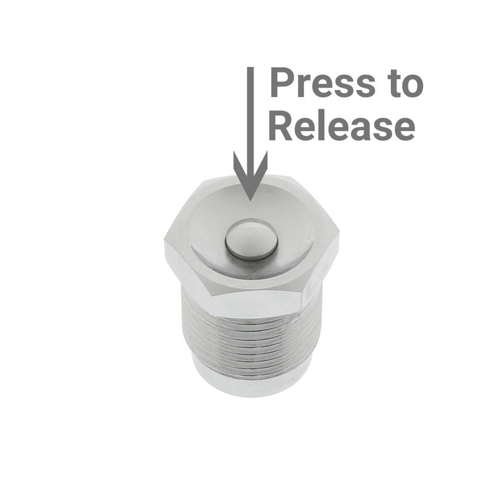 HP Sealing DIN Plug w/Pressure Release - Outside The Asylum Diving & Travel