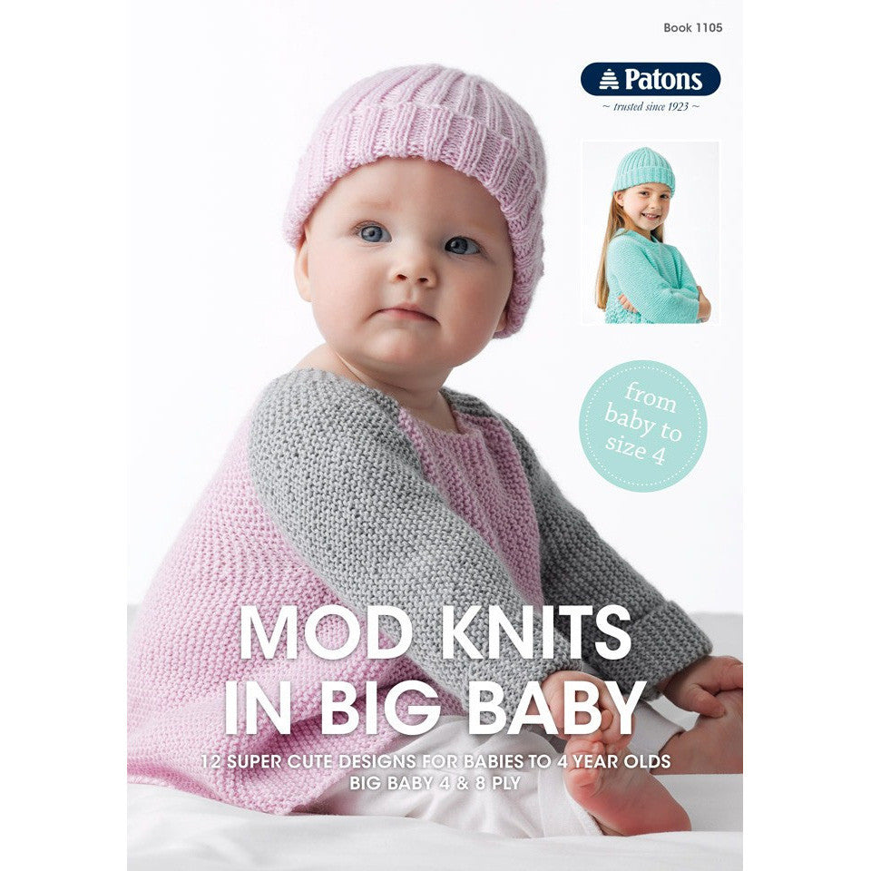 Patons Mod Knits in Big Baby - Pattern Books - Nundle Woollen Mill