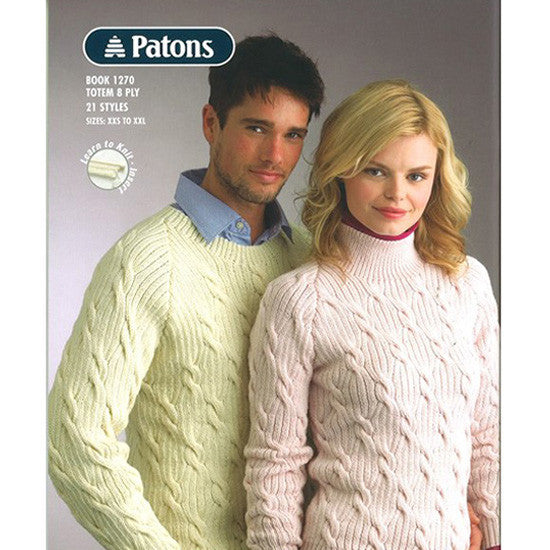 Patons Totem 8 Ply Ribs Cables Pattern Books Nundle Woollen Mill