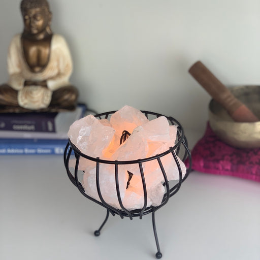 Crystal Cage Lamp - Clear Quartz