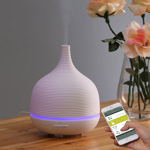 iMist Ultrasonic Aroma Diffuser with BlueTooth - Ripple Ceramic 500ml