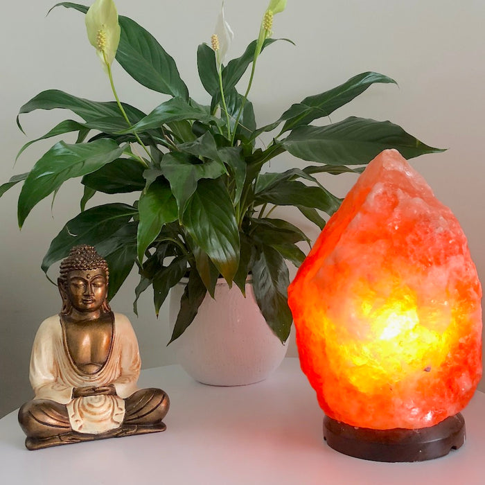 Himalayan Salt Lamp (marble base)