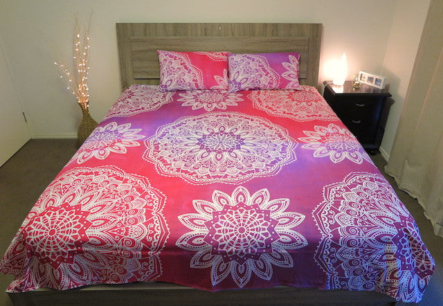 Mandala Bed Spreads + Pillow Cases