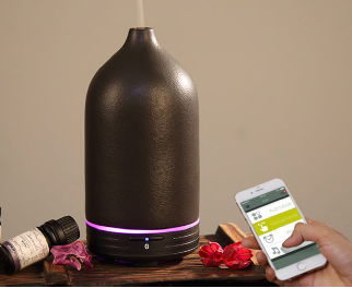 iMist Ultrasonic Ceramic Black Smart Aroma Humidifier 120ml