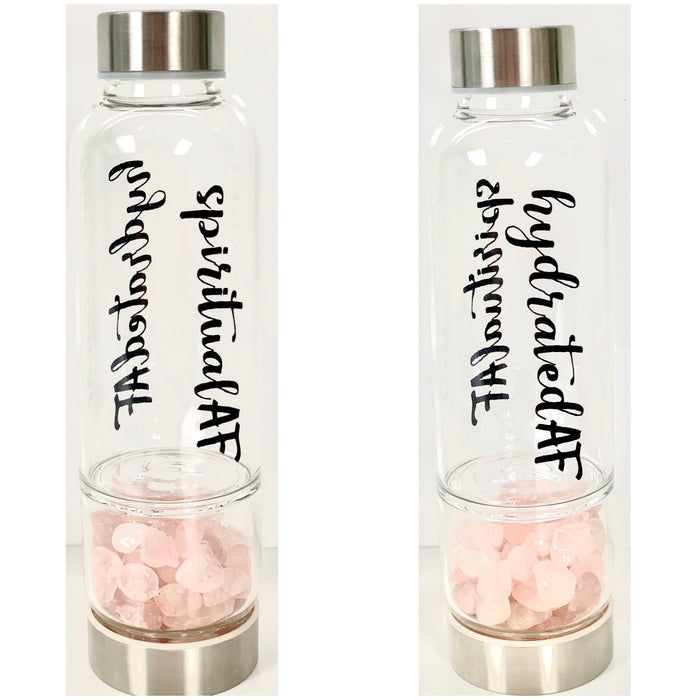 AF Crystal Water Bottle (Plain or text)