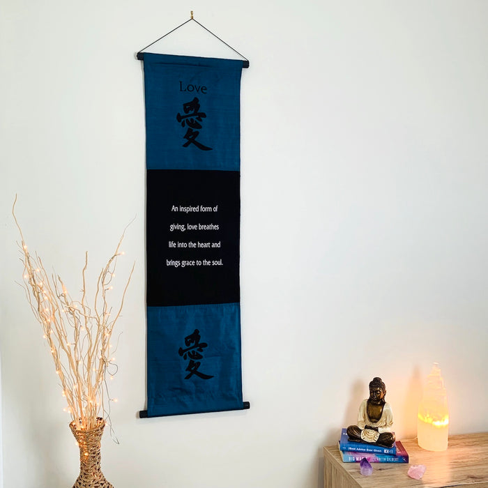 love affirmation banner large blue