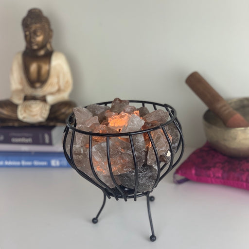 Crystal Cage Lamp - Smoky Quartz