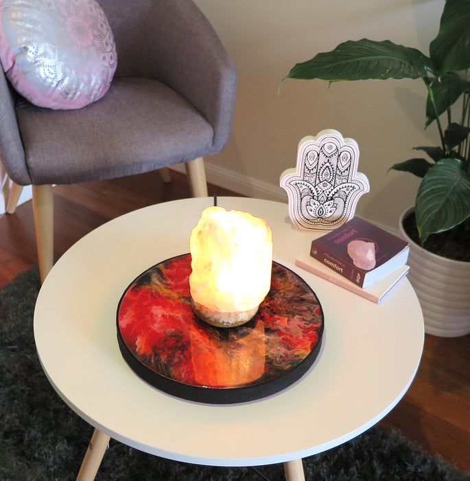 Diffuser/Salt Lamp Stand - Resin Art