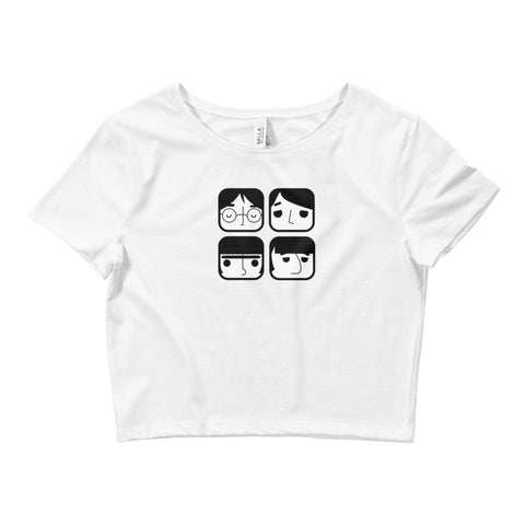 Fab Four - Women's Crop Top