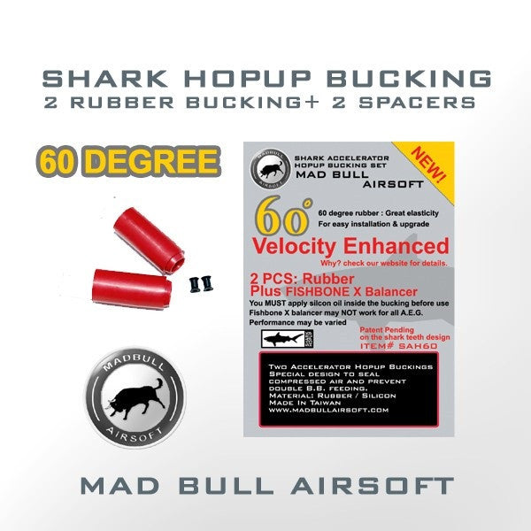 Madbull Red 60° (2x Buckings & Spacers)