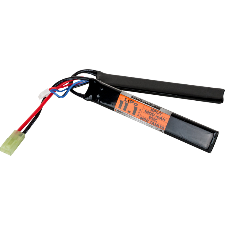 Valken Energy 11.1v 1200mAh 20c Split Lipo Battery