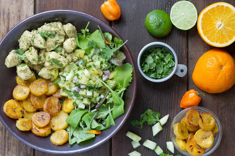 *NEW* Mojo Cuban Chicken Bowl with Platanos Maduros