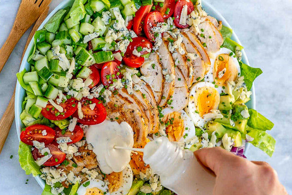 Keto Chicken Cobb Salad Bowl