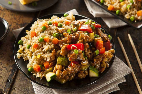 Kung Pao Chicken w/ Fried Rice & Veggies *NEW*