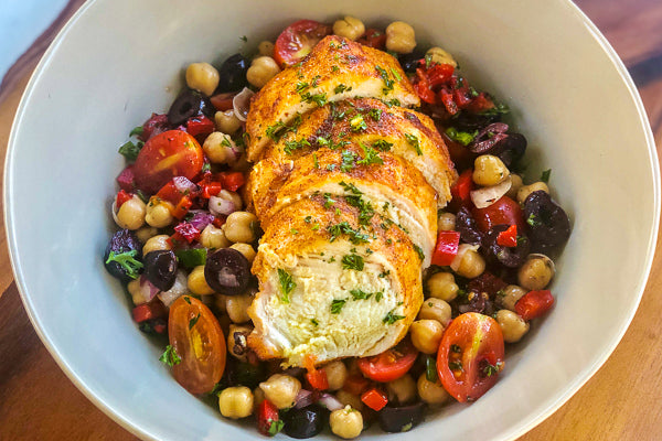 Mediterranean Chicken and Garbanzo Bean Salad *NEW*