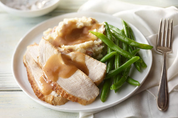Roasted Turkey Breast w/ Mashed Potatoes and Gravy *NEW*