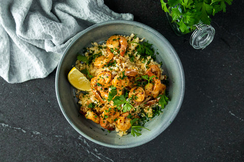 Brazilian Shrimp Stroganoff w/ Cauliflower Rice