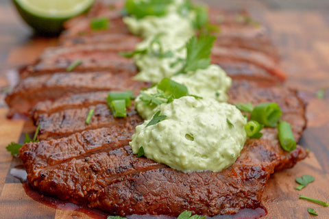 Seared Steak w/ Cilantro-Pepita Cream Sauce *NEW*