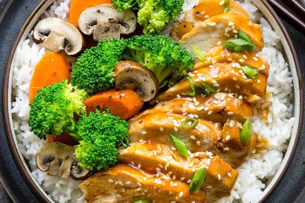 Teriyaki Chicken w/ Veggies & Jasmine Rice