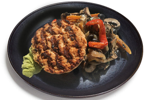 Turkey Burger w/Roasted Veggies