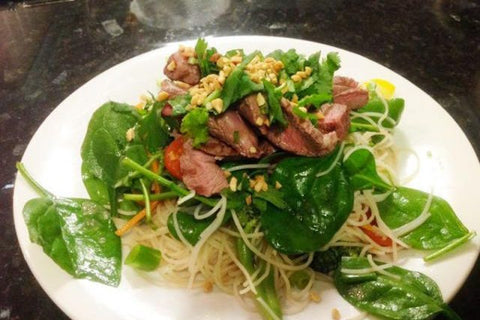 Zesty Thai Lamb & Rice Noodle Salad