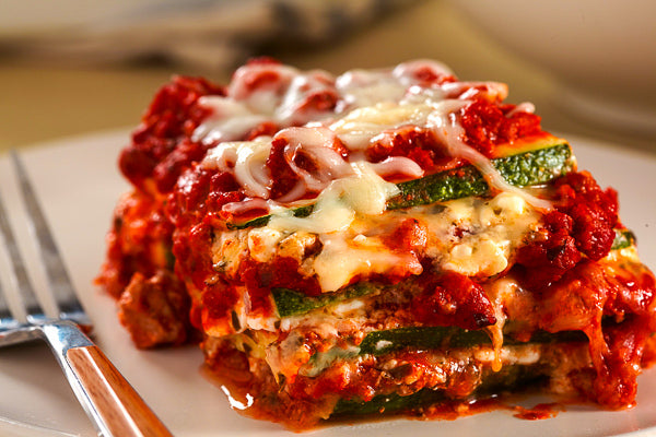 Vegetable Lasagna w/ Turkey Bolognese Sauce