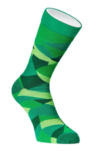 Evoke Men's 80% Cashmere Dress Socks Large Geometric Greatness Rainforest Green