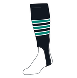 TCK Baseball Stirrups Small/Youth (100D, 5in) Black, White, Teal