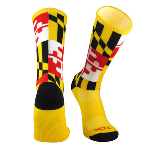 TCK Elite Flag Socks - MARYLAND 2.0 - Gold/White/Red/Black - proDRI, NWT