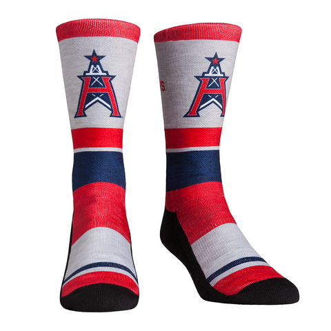 Rock Em Elite XFL Houston Roughnecks Heather Stripe Crew Socks