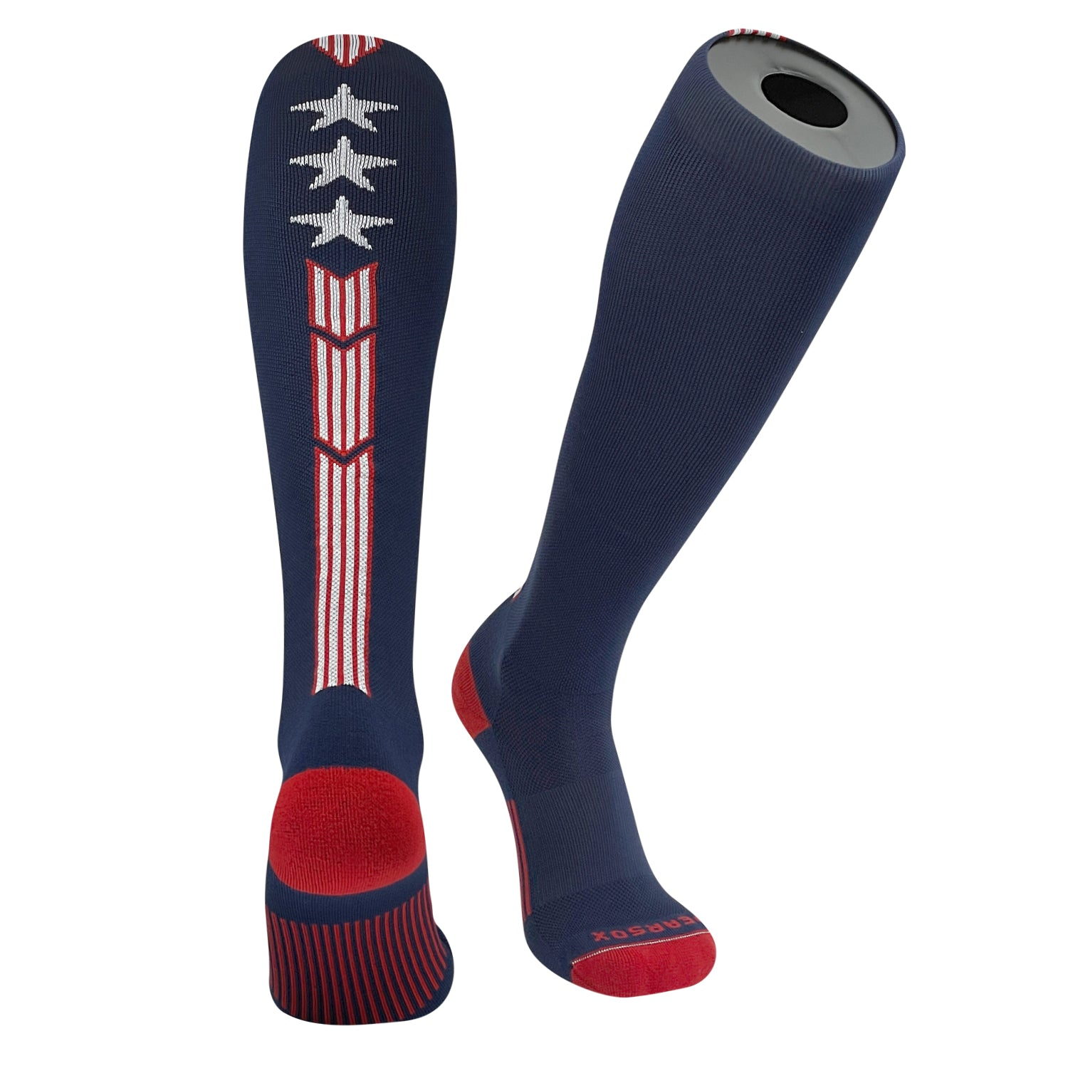 Pearsox USA STRIPE Flag Patriot Knee High Long Baseball Football Socks