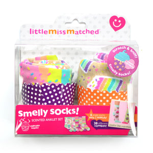 LittleMissMatched Smelly Cupcakes Socks Gift Set One Size