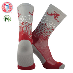 TCK Downtown Elite Licensed Alabama Crimson Tide GreyCrimson Crew Socks