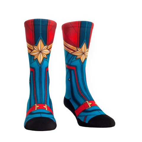 Rock Em Elite Lady Captain Super Hero L/XL Crew Socks