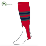 TCK Baseball Stirrups Medium (200I, 7in) Red, Graphite, Navy